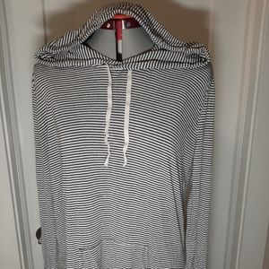 BRANDY MELVILLE Striped Hoodie Sweater